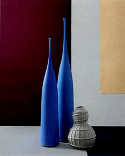 Two blues bottles - Sophie Cook