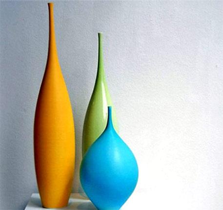 Sophie-Cook ceramic contemporary vases by three